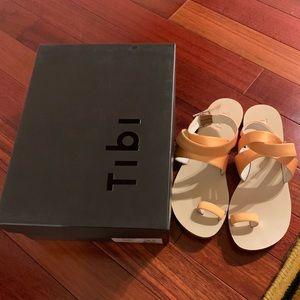 Tibi yellow sandals